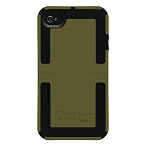 OtterBox APL7-I4UNI-C8-E4OTR_A Reflex Series Case for iPhone 4 - 1 Pack - Retail Packaging (Green/Black) (Discontinued by Manufacturer)