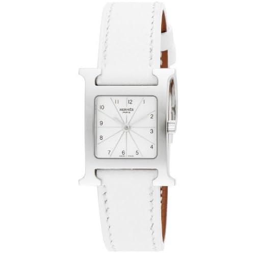 [エルメス]HERMES 腕時計 Hウォッチ シルバー文字盤  カーフ革ベルト HH1.210.260/UBC レディース 【並行輸入品】