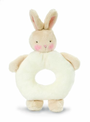 Bunnies By The Bay Bunny Ring Rattle, White