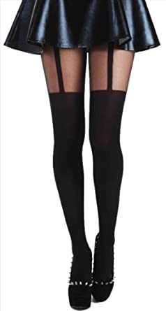 Pamela Mann Plain Stripe Suspender-Black-Medium
