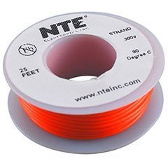 Nte Stranded 24 Awg Hook-Up Wire Orange 25 Ft.