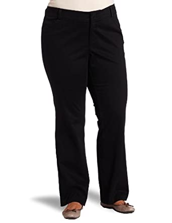 Dockers Women's Plus-Size The Khaki Pant with Hello Smooth, Black, 20 Medium