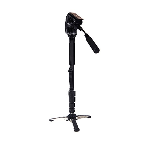 """Yunteng Vct-288 Photography Tripod Monopod With Fluid Pan Head Quick Release Plate And Unipod Holder For Canon Nikon Dslr Cameras"""