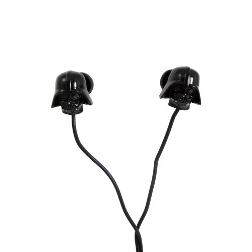 Star Wars Auricolari Stereo, Figura Darth Vader, 3.5 mm Jack, Nero