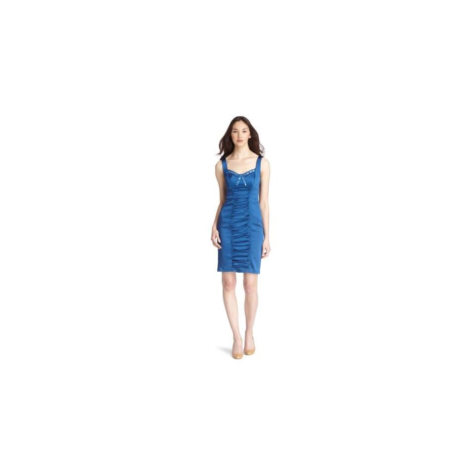 JAX Womens Stretch Satin Dress,Baltic,12