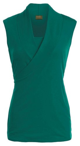 Milk Nursingwear Women'S Sleeveless Crossover Nursing Top-M-Turquoise