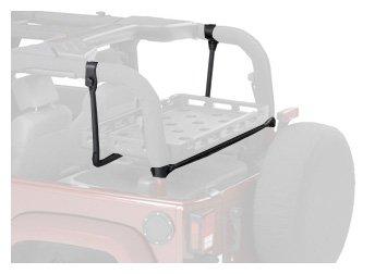 Bestop 41437-01 Highrock 4X4 Black Lower Cargo Rack Bracket For 03-12 Wrangler Tj & Jk