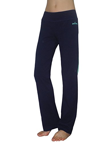 Spalding Womens Performance Slim Fit Sports Pants / Yoga Pants L Dark Blue