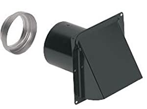 """Broan 885BL Wall Cap Steel Black for 3"""" and 4"""" round duct"""