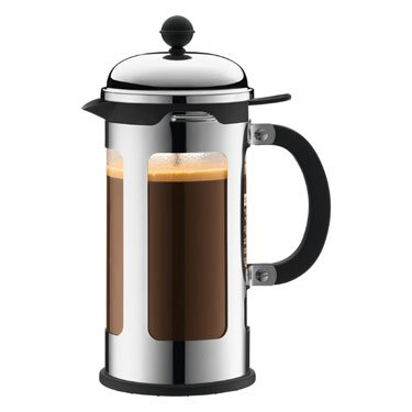 Bodum Chambord 8-Cup French Press Coffee Maker, Silver