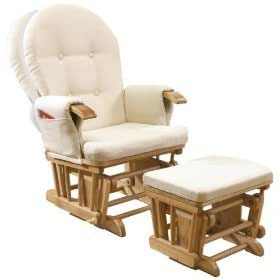 fauteuil inclinable et bascule avec repose pied rocking chair en h tre id al pour. Black Bedroom Furniture Sets. Home Design Ideas