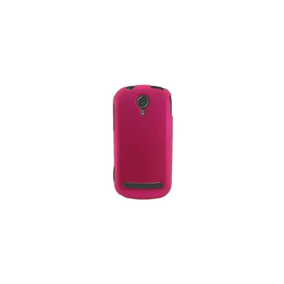 Hard Snap on Shield ROSE PINK RUBBERIZED Faceplate Cover Sleeve Case for LG C900 QUANTUM (AT&T)