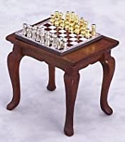 Miniature Chess Table and Set sold at Miniatures