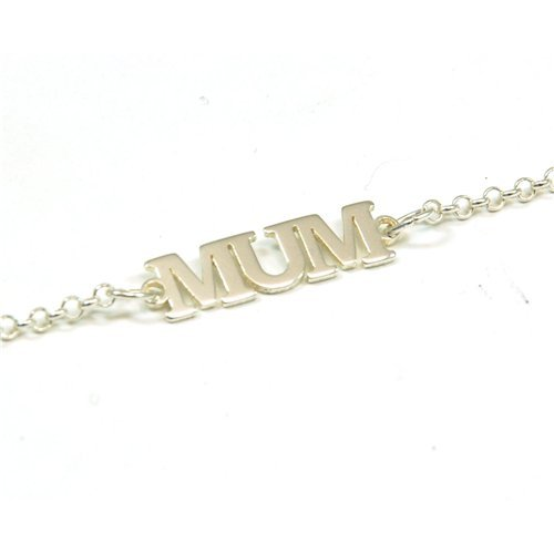 The Olivia Collection Sterling Silver Mum Anklet 10 Inch Chain