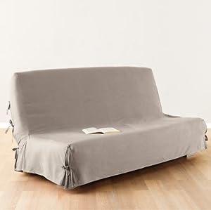 housse canap clic clac lin 140x200cm cuisine maison. Black Bedroom Furniture Sets. Home Design Ideas
