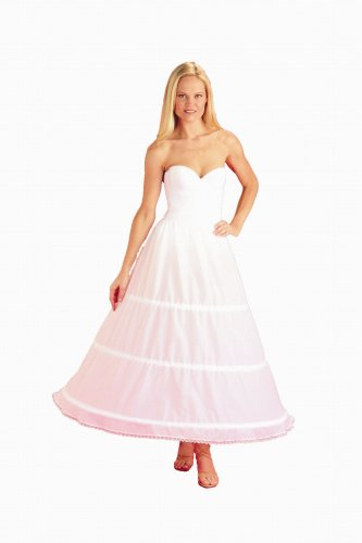 New3 Bone Cotton Hoop Skirt Bridal Petticoat Wedding Gown Slip (130DSC)
