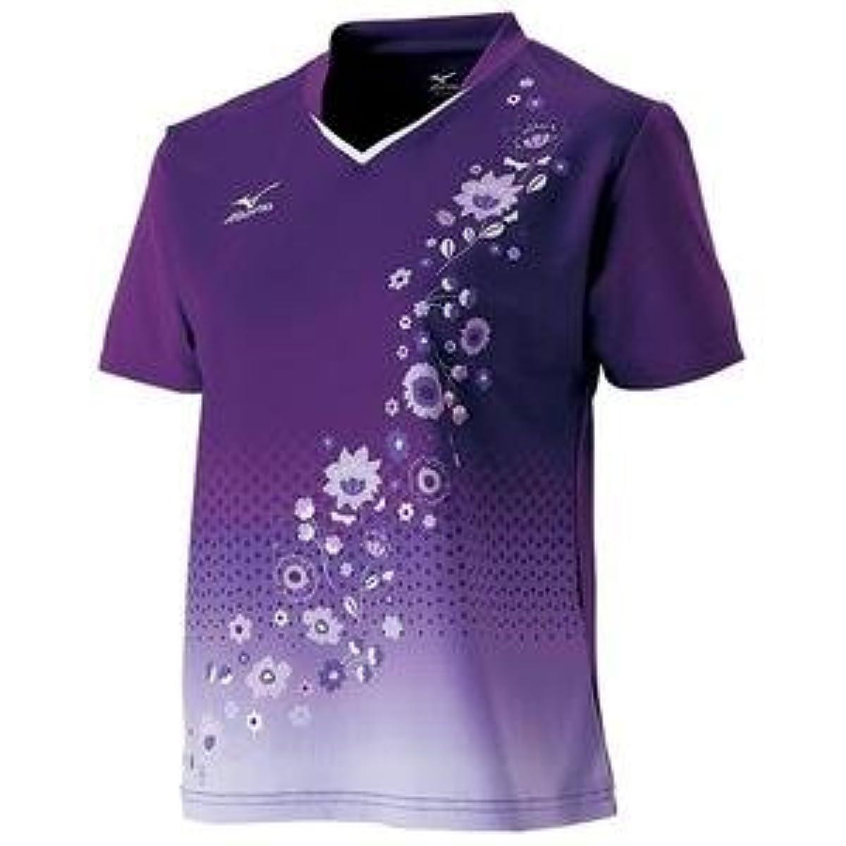 [해외] MIZUNO 게임 셔츠(탁구/레이디스)(이# 퍼플) 주문 상품 사이즈:L