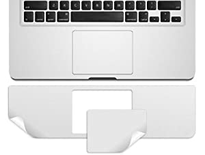 "Kuzy - Retina 13-Inch Palmrest with Trackpad Skin Protector Sticker Cover Silver for Apple MacBook Pro 13.3"" with RETINA Display Only Models: A1502 and A1425 (EST VERSION) by Kuzy"