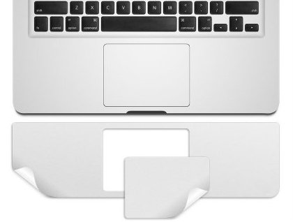 "Kuzy - Retina 13-Inch Palmrest with Trackpad Skin Protector Sticker Cover Silver for Apple MacBook Pro 13.3"" with RETINA Display Only Models: A1502"