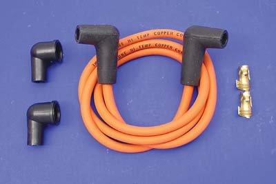 V-Twin 32-0650 - Orange Copper Core 7mm Spark Plug Wire Kit (Spark Plug Wire Mount compare prices)