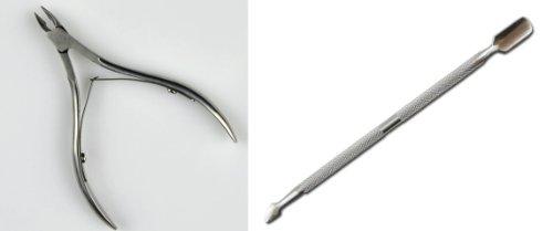 キューティクルニッパー & プッシャー 2点セット ネイル用品 ネイルケア ネイル ヘルスビューティー