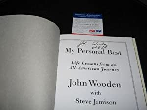John Wooden Ucla Bruins Champs Psa dna Signed Book - Autographed College Magazines by Sports+Memorabilia