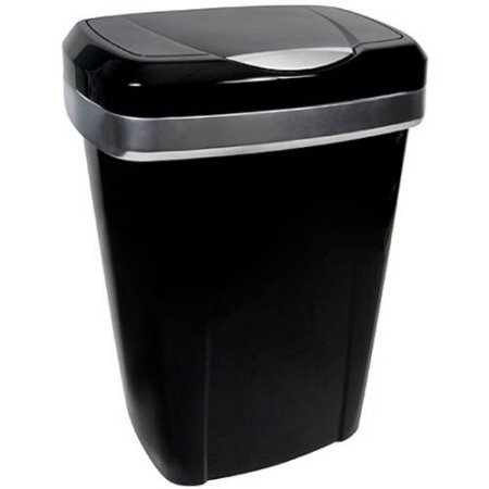 Hefty Premium Touch Lid 12.2-Gal Black Trash Can (Hefty Garbage Can compare prices)