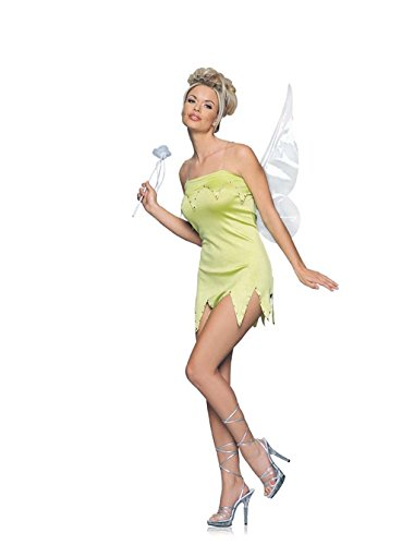 Adult Green Sprite Costume Tinkerbell Nymph Size: Medium/Large (Tinkerbell And Peter Pan Costumes For Adults)