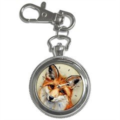 Limited Edition Violano Keychain Pocket Watch Victorian Red Fox