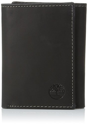 Timberland Men's Hunter Trifold Wallet, Black, One Size
