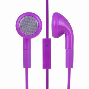 Purple Handsfree Earphones with Mic for Sony Xperia J by 247Clix