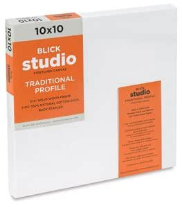 Blick Studio Cotton Canvas - 10 x 10, Traditional Profile Canvas