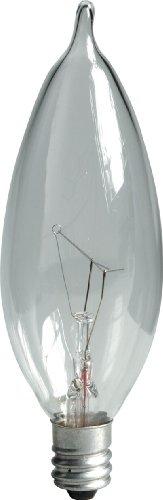 Ge 48396-12 15-Watt Crystal Clear Bent Tip Ca10, 12-Pack