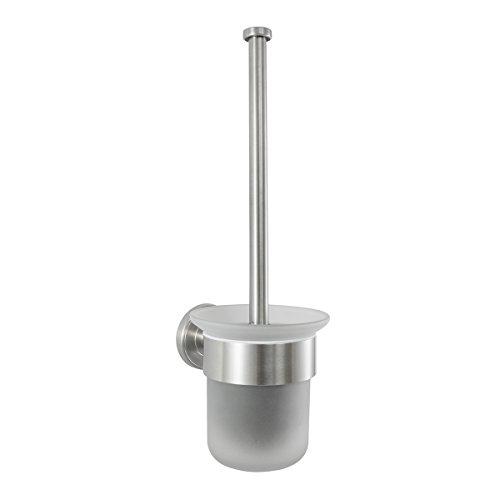 Badserie Ambiente - WC-Garnitur, satiniertes Glas, Edelstahl, matt