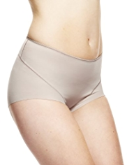 2 Pack Light Tummy Control No VPL High Leg Knickers