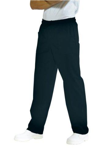 044701 Pantalone con elastico Nero per Abbigliamento per la cucina per Abbigliamento per settori sanitario, benessere ed estetico per Divise ufficiali Federazione Italiana Cuochi FIC Donna Uomo Pantaloni