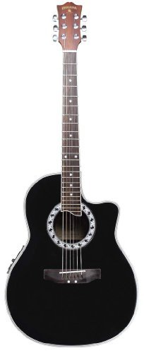 Shannondale Black Gloss Thin Body Acoustic/Electric Guitar