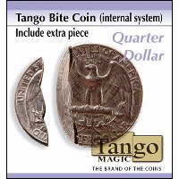 Bite Coin - US Quarter (Internal With Extra Piece) by Tango
