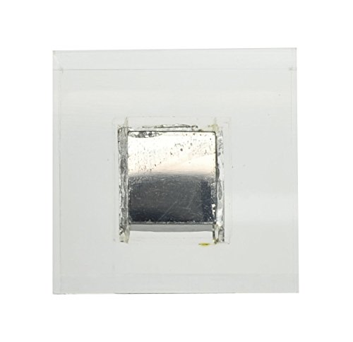 Gallium Metal Embedded in 2x2in Acrylic Cube for Element Collectors