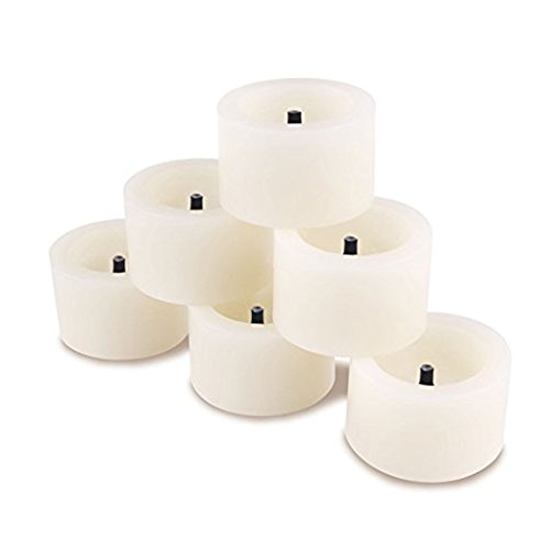 ONEVER Set of 6 Battery Powered LED Tealight Candles Votive Flameless Candles with Timer Function Unscented Romantic Light for Weddings, Christmas, Halloween (Battery Votive Candles Timer compare prices)