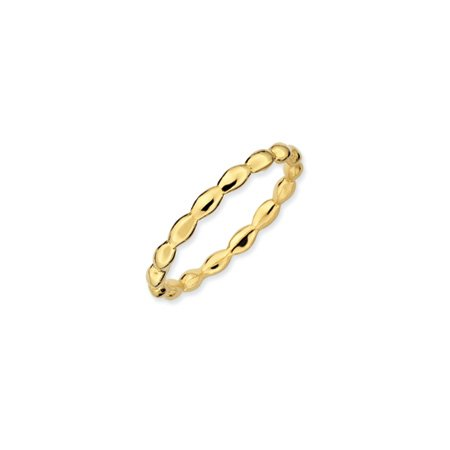Black Bow Jewellery Company : 2.25mm Stackable 18K Gold Vermeil Rice Bead Band