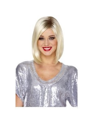 Runway Model Wig (blonde/black) Adult Halloween Costume Accessory