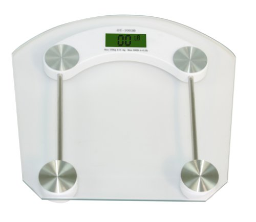 Cheap Home Basics Glass Bathroom Scale, 2.5-Inch LCD (BS01261)