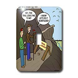 Rich Diesslins Funny Out to Lunch Cartoons - Some People Who Should Not Go Hiking - Light Switch Covers - single toggle switch