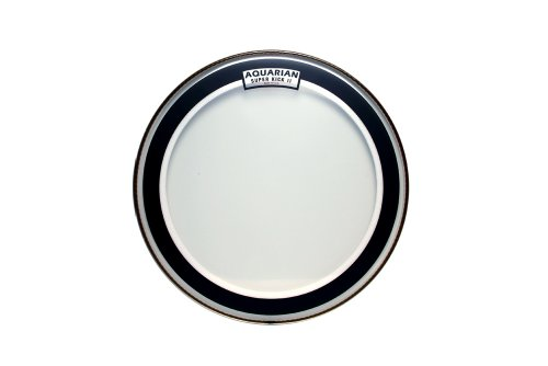 aquarian drumheads skii16 super kick ii double ply 16 inch bass drum head. Black Bedroom Furniture Sets. Home Design Ideas