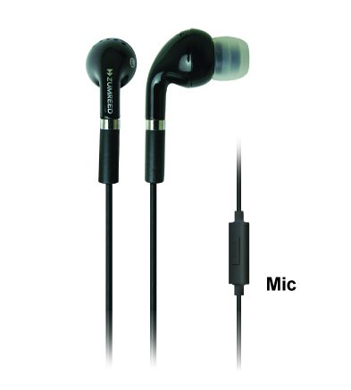 Zumreed Zhp-006S Tone Classic Style Stereo Earbuds With Built-In Mic, Black front-175052