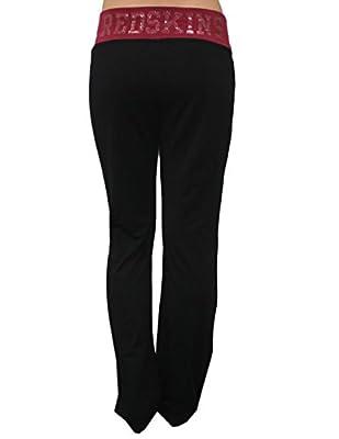 NFL Womens Team Logo Glitter Lounge / Yoga Pants - WASHINGTON REDSKINS
