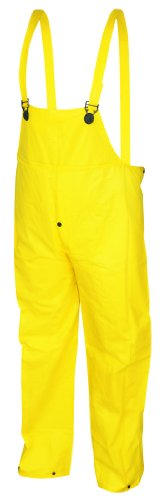 [MCR Safety 300BFL Wizard PVC/Nylon Flame Resistant Bib Overall without Fly, Yellow, Large] (Fisherman Costume)