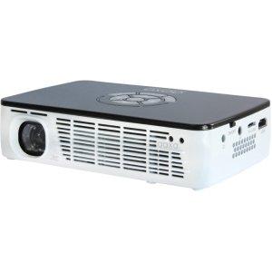 AAXA Technologies Pico P300 DLP Projector - 16:10. P300 300 LUMEN HD PROJECTOR 1280X800 HDMI/VGA/AV/LI-ION BATTERY. 1280 x 800 - WXGA - 2,000:1 - 300 lm - HDMI - USB - VGA - microSD Card - 25 W - Black, White Color