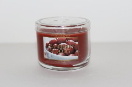 Bath & Body Works Holiday Traditions Cranberry Woods Scented Candle Glass Jar 1.3 Oz